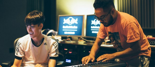 Tennyson + Mr. Carmack Recording Session at at Red Bull Studios in Santa Monica