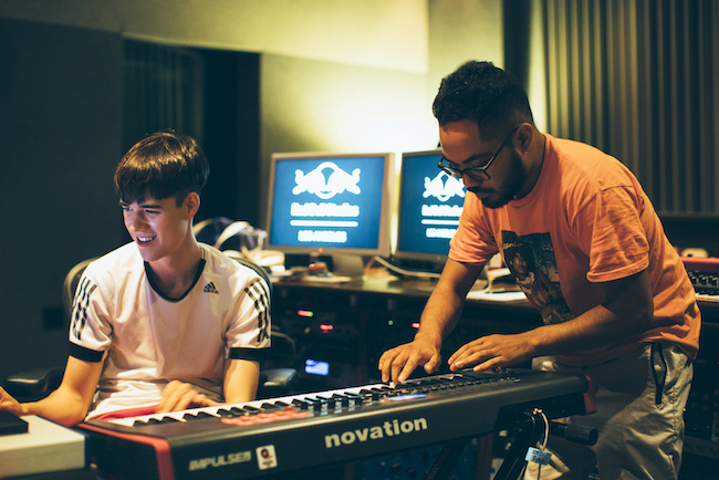 Tennyson + Mr. Carmack Recording Session at at Red Bull Studios in Santa Monica